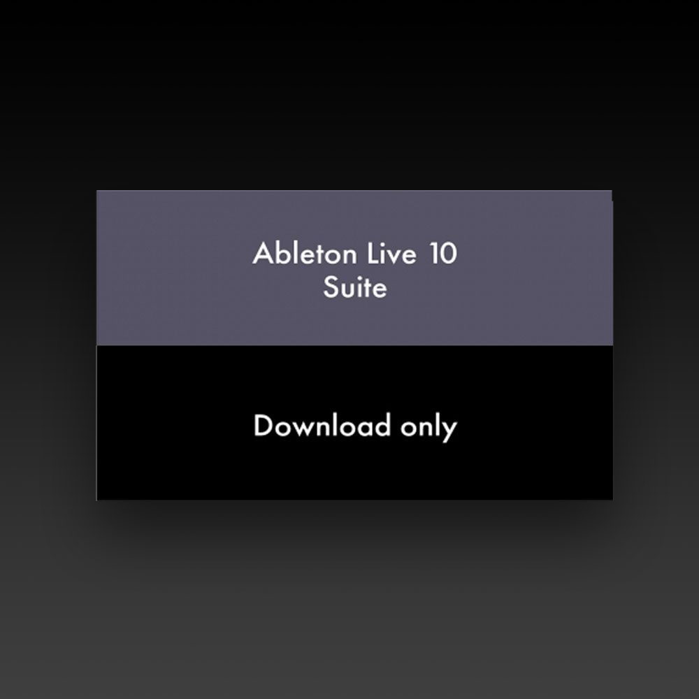 ABLETON LIVE 10 SUITE EDITION (ESD) (88171)
